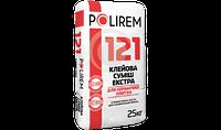 Клей для плитки экстра (гидрофобная) для каминов, бассейнов Полирем СКп-121, 25 кг