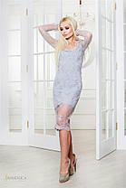 Элегантное шикарное платье Mia полностью украшено кружевом (4 цвета) (128)1951, фото 3