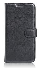 Кожаный чехол-книжка  для Lenovo Vibe C2 k10a40 черный