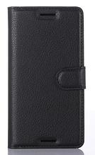 Кожаный чехол-книжка для Sony Xperia X F5121 F5122 черный