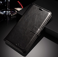 Кожаный чехол-книжка для Huawei P10 Lite черный