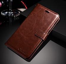Кожаный чехол-книжка для Xiaomi Mi A1 / Mi 5X коричневый