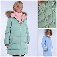 Anernuo зимнее пальто полупальто для девочки 17159 размер 130,140,150,160,170