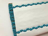 Тасьма декоративна Хвилька 8 мм, бірюзова