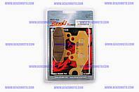 Колодки тормозные (диск)   Zongshen STORM   (задние, желтые)   YONGLI PRO