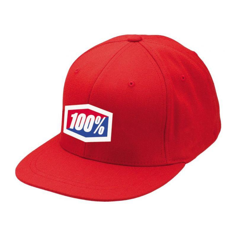 """Кепка Ride 100% """"ICON"""" 210 Fitted Hat Red , L/XL"""