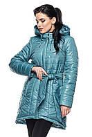 Женская удлиненная куртка с капюшоном, фото 1