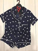 Пижама женская рубашка и шорты  playboy