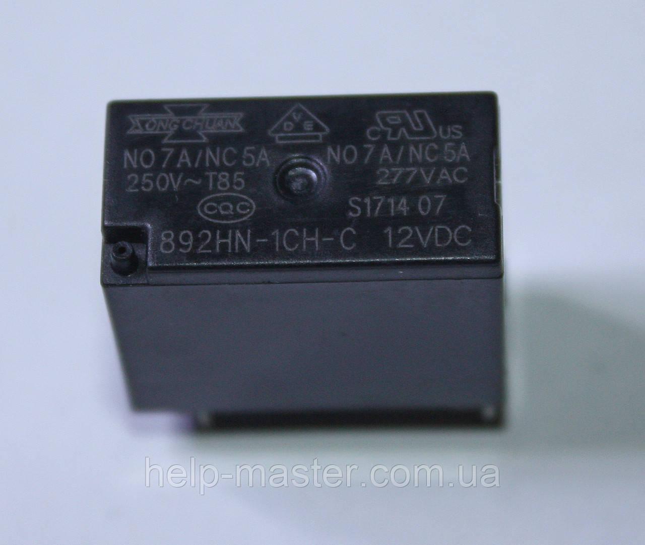 Реле 892HN-1CH-C; 12VDC