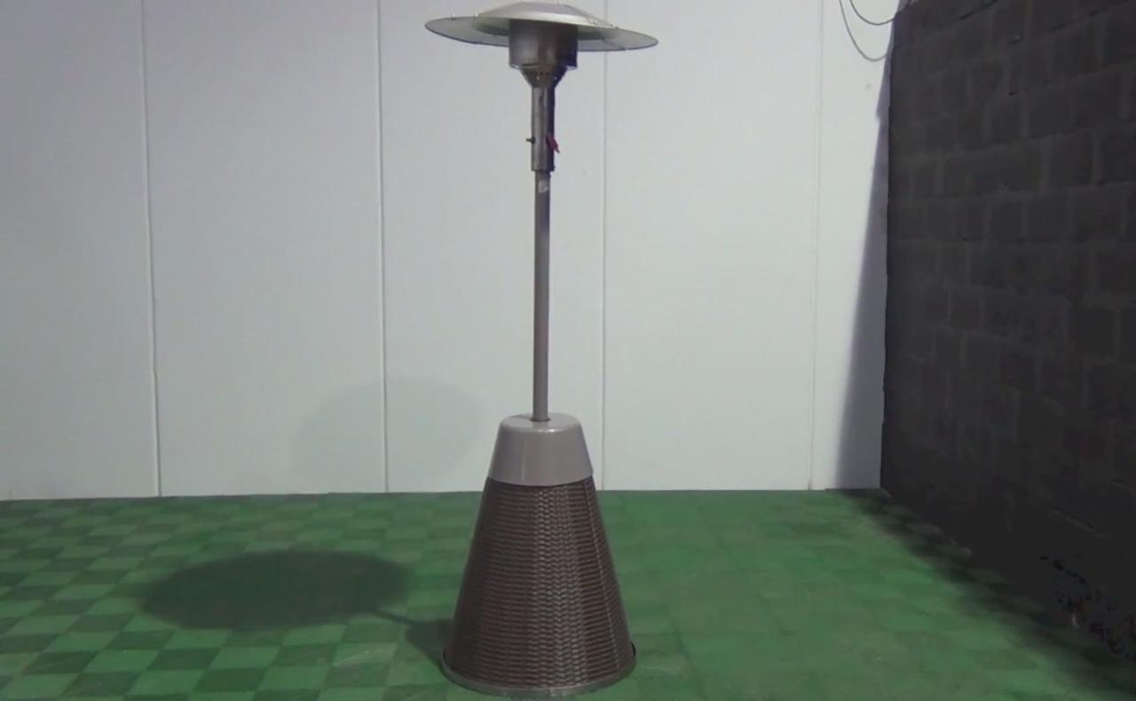 Уличный газовый обогреватель Enders Rattan (549523) сталь с напылением, серый