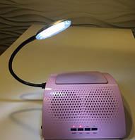 Вытяжка маникюрная. Два вентилятора, подсветка - Feimei Simei Premium.