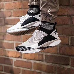 Мужские кроссовки Puma tsugi jun cubism Black/White