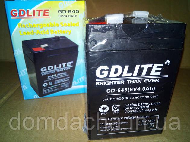 Аккумулятор GDLite GD-645 6V/4Ah, фото 2