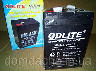 Аккумулятор GDLite GD-645 6V/4Ah