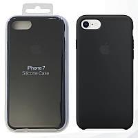 Чехол Накладка Apple Silicone Case для iPhone 7 / 8 Black (MMW82ZM/A) - Оригинал, фото 1