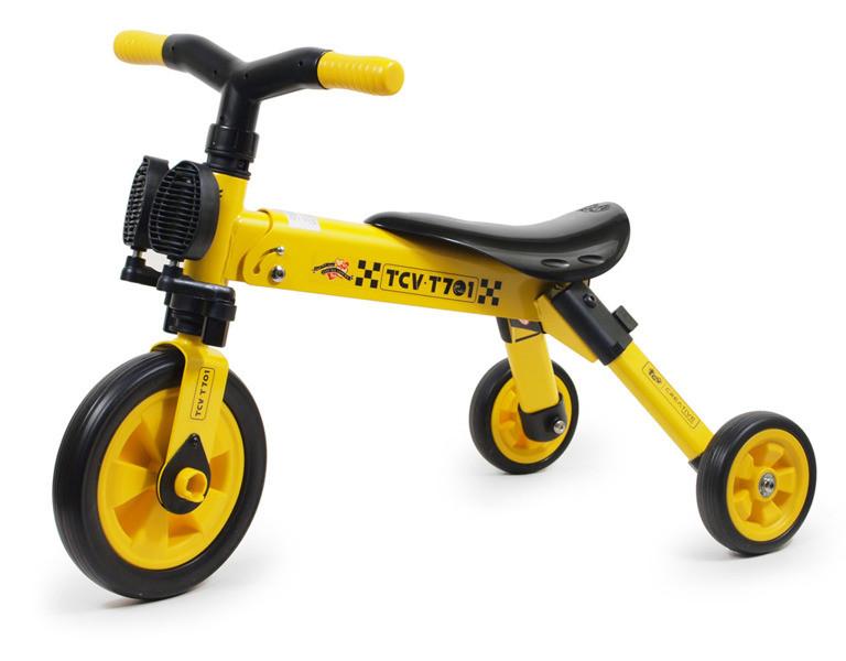 Складной трехколесный велосипед-беговел TCV 2 в 1 Желтый (T701 Y)