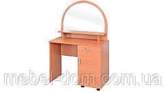 Трюмо-1, туалетный стол с тумбой, зеркалом и выдвижным ящиком