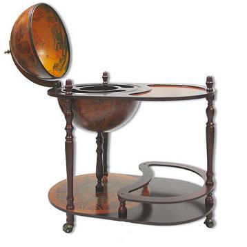 Глобус бар напольный со столиком 42004 R, фото 2