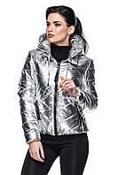 Весенняя женская куртка в серебре