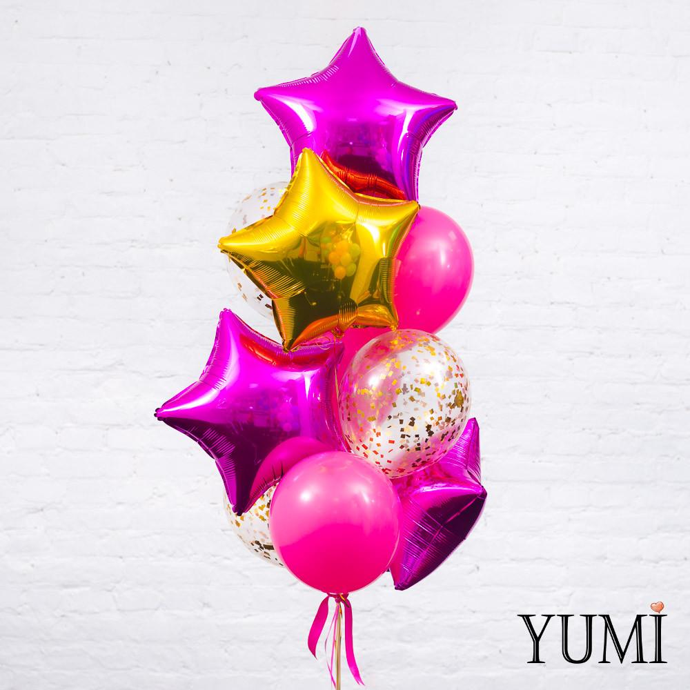 Связка из воздушных шаров для подруги