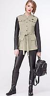 Куртка La Kona-1105 белорусский трикотаж, хаки, 42