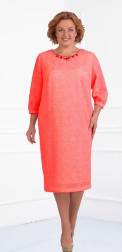 Платье Novella Sharm-2491-1 белорусский трикотаж, персик, 60