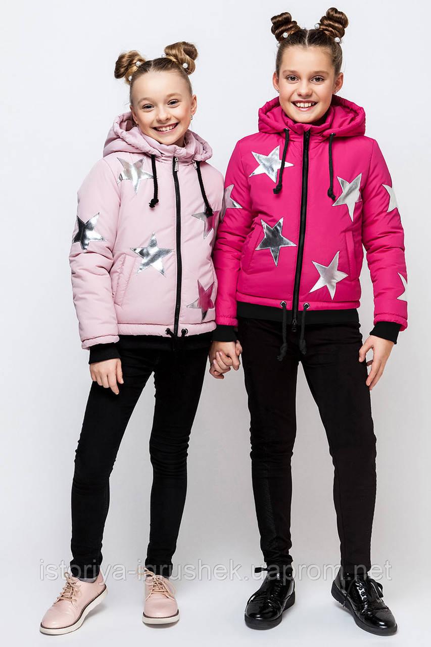 Демисезонная куртка для девочки vkd-5 в ассортименте