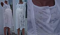 Ночная рубашка для беременных и кормящих без рукава Одуванчик 44-58 р