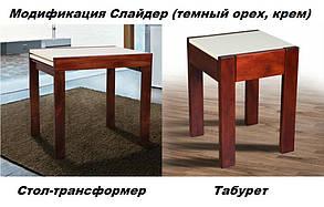 Табурет Слайдер венге/крем (Микс-Мебель ТМ), фото 3