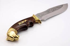 Нож охотничий ручной работы Пантера, производство Украина+ кожаный чехол