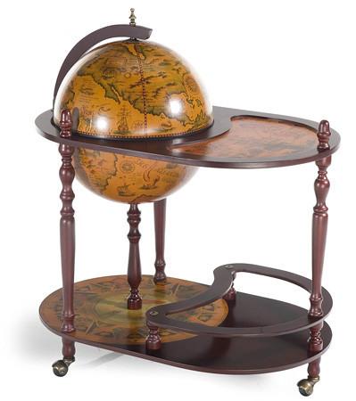 Глобус бар напольный со столиком 42004 R