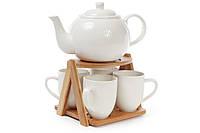 Чайный набор на бамбуковой подставке