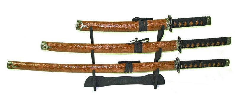Сувенирный набор Катан из 3 штук + подставка, декор для вашего дома
