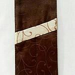 "Куверт  (конверт) , на 2 прибора , ткань ""Мати"" рис.1812  коричневый, фото 2"