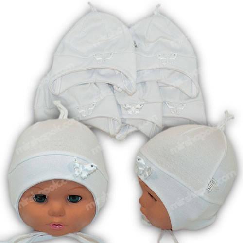Шапочка для новорожденного трикотаж, р. 36-38, 38-40