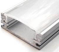 Алюминиевый профиль ПРЕМИУМ для светодиодной ленты накладной низкий