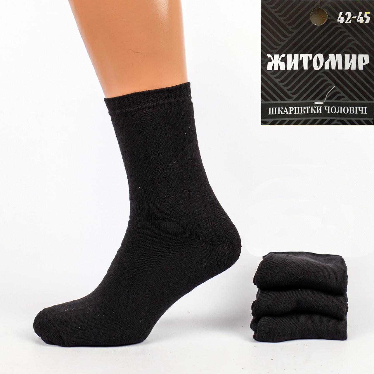 Мужские махровые носки Житомир М26. В упаковке 12 пар.