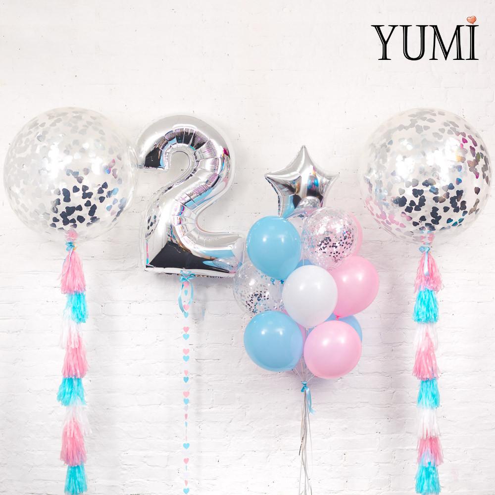 Нежное оформление из воздушных шаров для ребенка