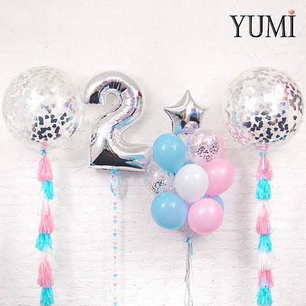 Нежное оформление из воздушных шаров для ребенка, фото 2