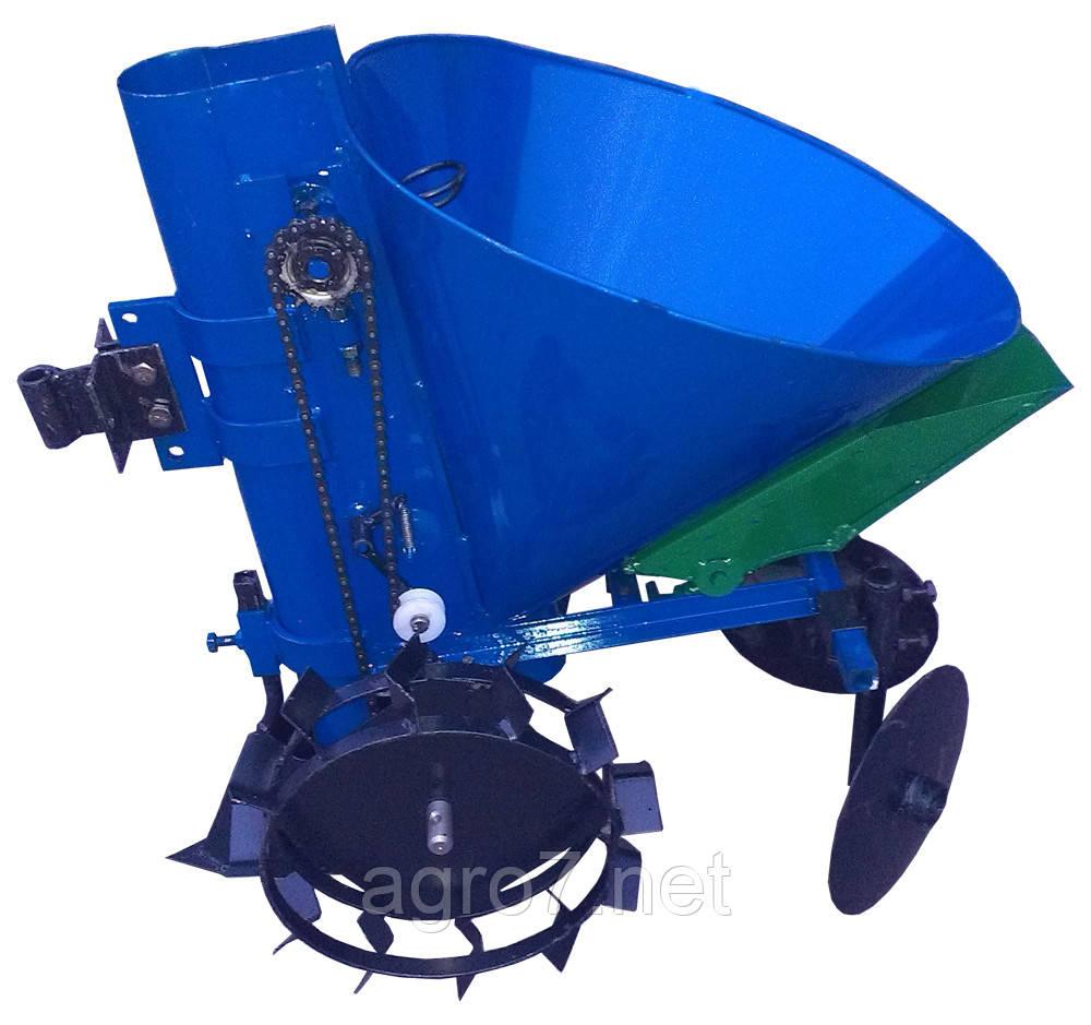 Картофелесажалка для мототрактора К-1ЦУ (синяя), фото 1