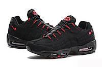 """Кроссовки женские черно-красные Nike Air Max 95 Essential """"Black/Red"""""""