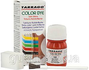 Краситель для гладкой кожи и текстиля Tarrago Color Dye 25 мл цвет ярко красный (102)