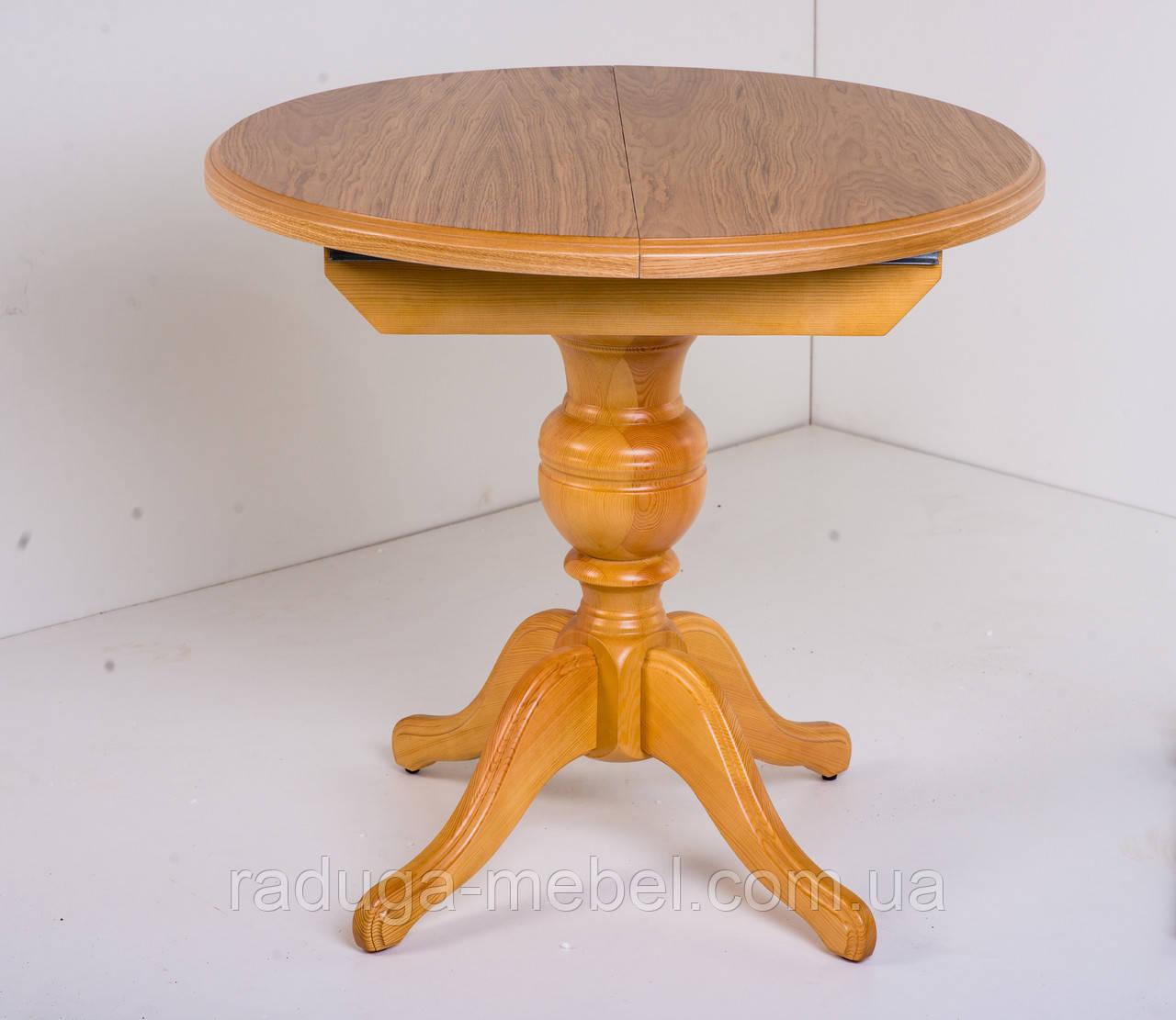 Стол деревянный круглый Анжелика  ( натуральный )