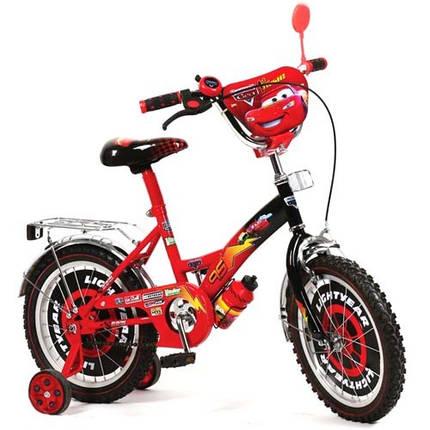"""Детский двухколесный велосипед Дисней """"Тачки"""" (диаметр колес14), фото 2"""