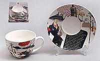 """Подарочный чайный набор """"Мадмуазель"""" 2 чашки 225 мл +блюдца,"""