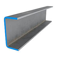 П – образный профиль (гнутый швеллер) 100х50x3 мм