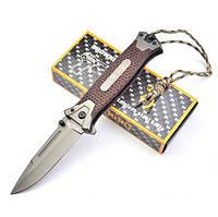 Нож Browning, полуавтомат, темляк и подарочная упаковка, качественная выкидуха, фото 1