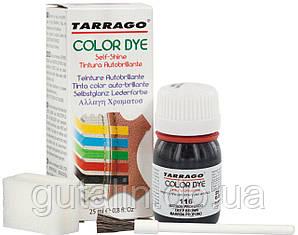 Барвник для гладкої шкіри та текстилю Tarrago Color Dye 25 мл колір дуже темно-коричневий (116)