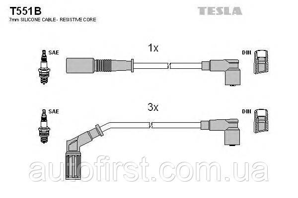 Tesla T551B Высоковольтные провода Fiat, Lancia
