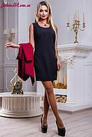 Базовое Черное Платье  без Рукавов р.44-50, фото 1